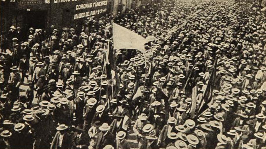Marcha_obrera_en_Iquique,_1907