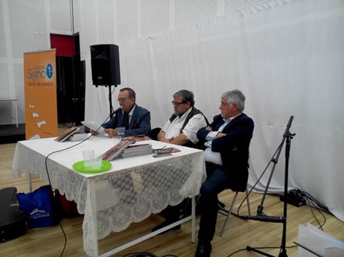 Sergio Badilla, Jorge Calvo y Jorge Coulon.